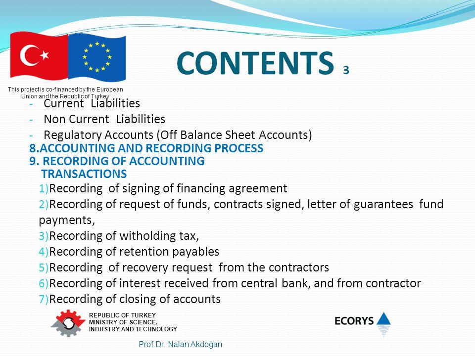 This project is co-financed by the European Union and the Republic of Turkey REPUBLIC OF TURKEY MINISTRY OF SCIENCE, INDUSTRY AND TECHNOLOGY Chart Of Accounts - HESAP PLANI 900 APPROVED FINANCING AGREEMENT (900 APPROVED OIS OF RCOP) 901 APPROVED FINANCING AGREEMENT CREDITOR ACCOUNT (-) (901 APPROVED OIS of RCOP CREDITOR AC) 910CONTRACTS SIGNED UNDER RCOP 911CONTRACTS SIGNED UNDER RCOP CREDİTOR ACCOUNT 920 REQUEST OF FUNDS 921REQUEST OF FUNDS CREDITOR ACCOUNT (-) 93 LETTER OF GUARANTEES 930 LG RECEIVED FOR PERFORMANCES 931 LG RECEIVED FOR ADVANCES 932 LG RECEIVED FOR RETENTION 939L G RECEIVED CREDITOR ACCOUNT ( 900 ONAYLANAN FİNANSAL ANLAŞMA 901 ONAYLANAN FİNANSAL ANLAŞMA ALACAKLI HESABI (-) 910 RCOP KAPSAMINDA İMZALANAN SÖZLEŞMELER 911 RCOP KAPSAMINDA İMZALANAN SÖZLEŞMELER ALACAKLI HES.(-) 920 FON TALEPLERİ 921 FON TALEPLERİ ALACAKLI HESABI (-) 93 ALINAN GARANTİ MEKTUPLARI 930 ALINAN PERFORMANS GARANTİ MEKTUPLARI 931 ALINAN İHALE GARANTİ(ADVANCE) MEKTUPLARI 932 YÜKLENİCİDEN KESİLELECEK TUTARA KARŞILIK ALINAN TEMİNAT MEKTUPLARI (RETENTION) 939 ALINAN GARANTİ MEKTUPLARI ALACAKLI HESABI 9 OFF BALANCE SHEET ACCOUNTS (REGULATORY ACCOUNTS) 9 NAZIM HESAPLAR 9.BİLANÇO DIŞI HESAPLAR- NAZIM H.