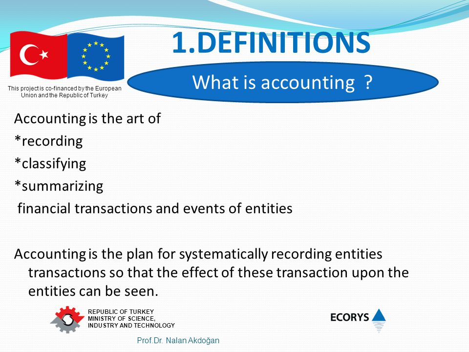 This project is co-financed by the European Union and the Republic of Turkey REPUBLIC OF TURKEY MINISTRY OF SCIENCE, INDUSTRY AND TECHNOLOGY Account Code The name of the accountDebitCredit 360 Tax Payable 1680 - 103 Payment Orders 1680 9.d.