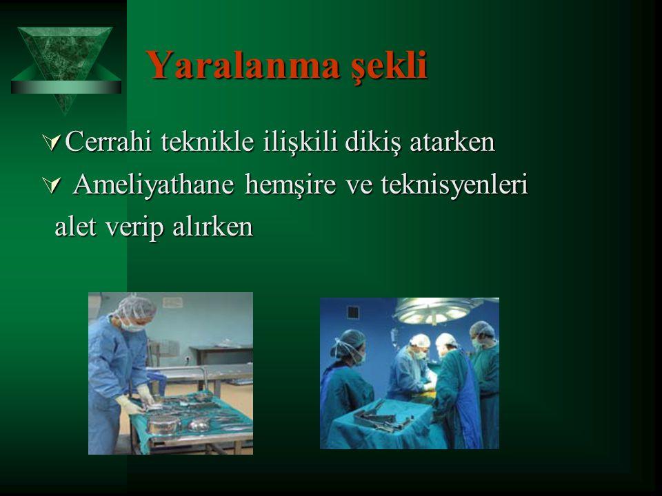  Yaralanan kişinin anti HBs Ab düzeyi > 10 mIU/ml ise hepatit B'ye karşı yeterli korunma sağlar.