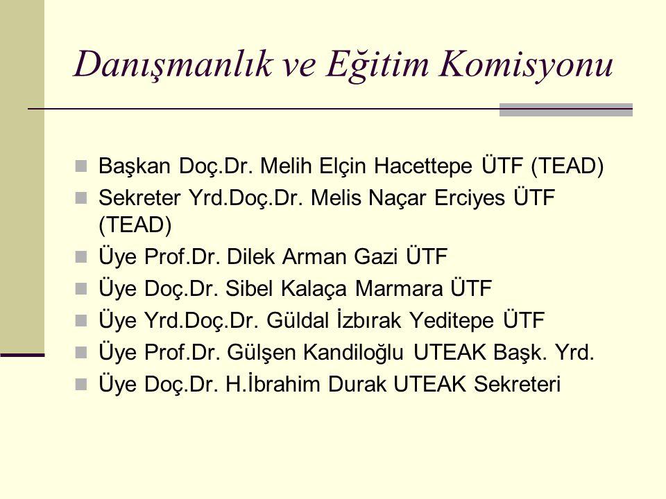 Danışmanlık ve Eğitim Komisyonu Başkan Doç.Dr.