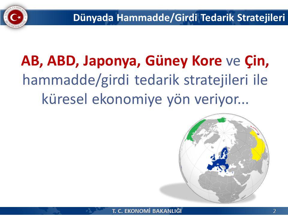AB, ABD, Japonya, Güney Kore ve Çin, hammadde/girdi tedarik stratejileri ile küresel ekonomiye yön veriyor...