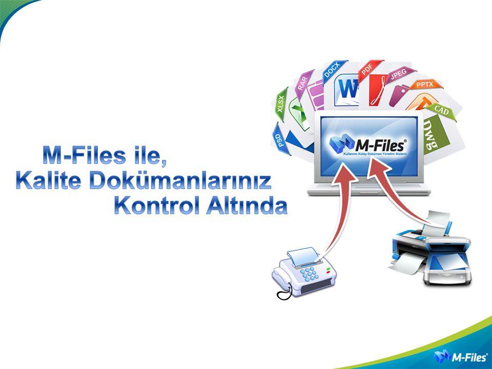 TEŞEKKÜRLER M-Files Türkiye MechSoft Yazılım Çözümleri dys@mechsoft.com.tr http://dys.mechsoft.com.tr