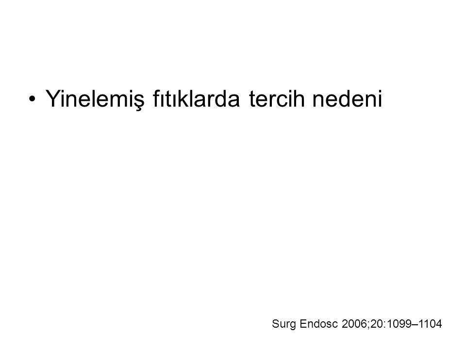 Yinelemiş fıtıklarda tercih nedeni Surg Endosc 2006;20:1099–1104