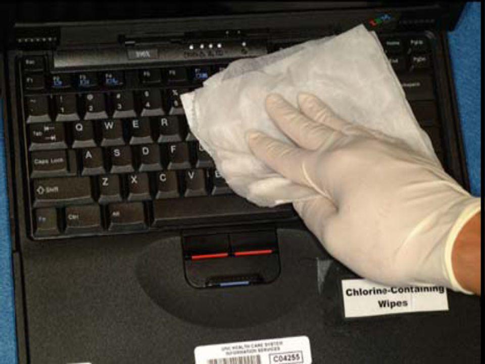 Bilgisayar Klavyelerinin Dezenfeksiyonu Tüm test edilen ürünler test patojenlerini temizlemekte ve/veya etkisiz hale getirmekte (>% 95) etkindi (MRSA, P.