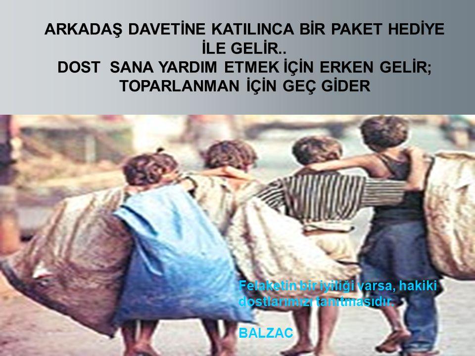 ARKADAŞ DAVETİNE KATILINCA BİR PAKET HEDİYE İLE GELİR..