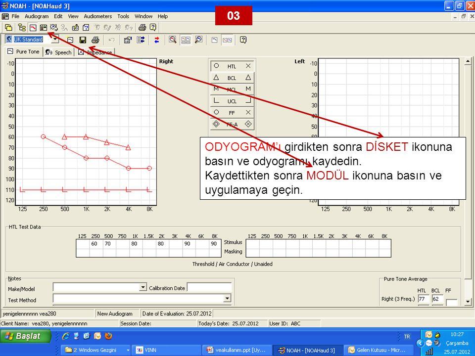 VEA'lar için AVENTA 3.3'ü seçin. 04