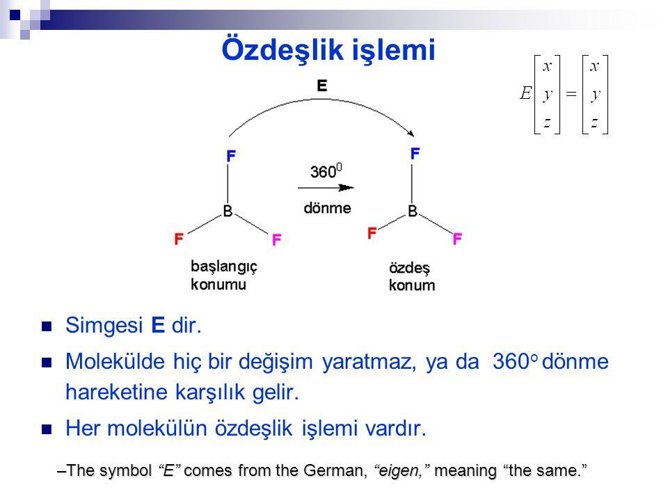 eşdeğer ve özdeş konumlar eşdeğer konum = başlangıç ile ayırt edilemeyen konum özdeş konum = başlangıç ile aynı konum