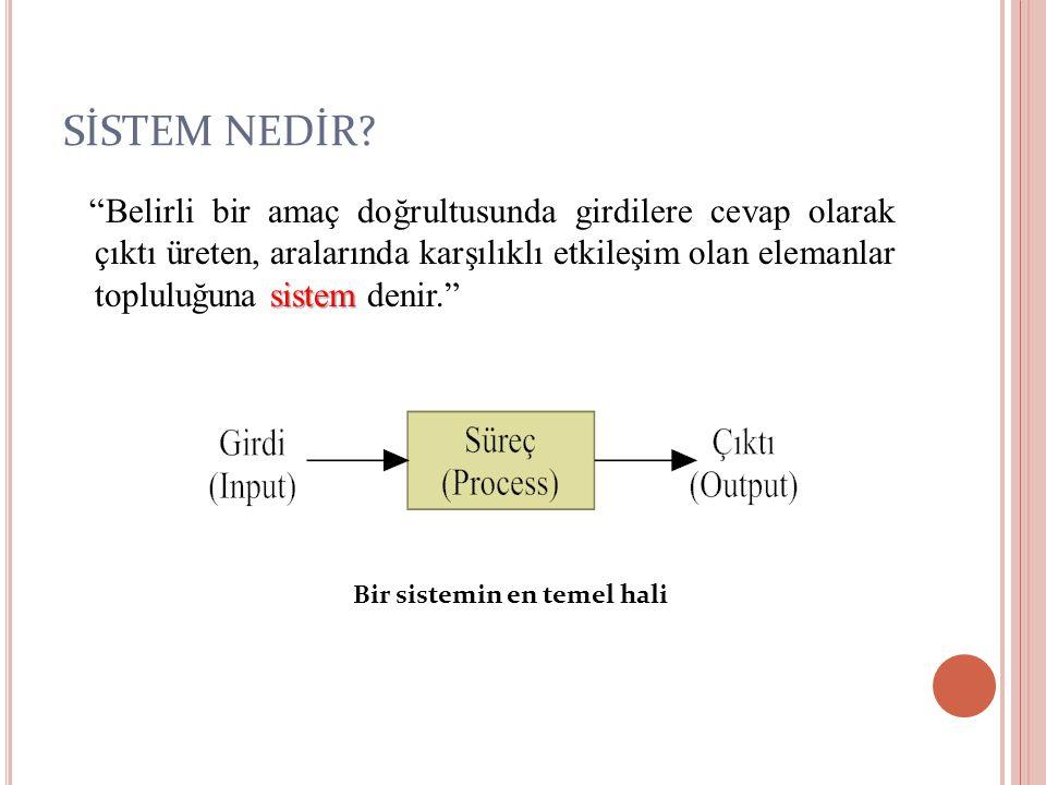 İÇ ÇEVRE ÖRGÜTLEMESİ Sistemin iç çevre örgütlemesi bilgi yaratabilmek ve kullanabilmek özelliği ile belirtilir.