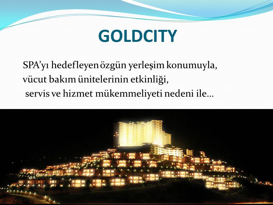 GOLDCITY SPA'yı hedefleyen özgün yerleşim konumuyla, vücut bakım ünitelerinin etkinliği, servis ve hizmet mükemmeliyeti nedeni ile…
