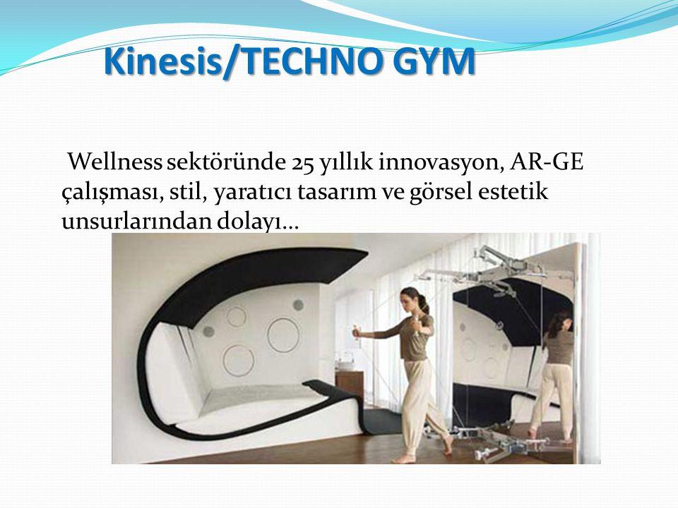 Kinesis/TECHNO GYM Wellness sektöründe 25 yıllık innovasyon, AR-GE çalışması, stil, yaratıcı tasarım ve görsel estetik unsurlarından dolayı…