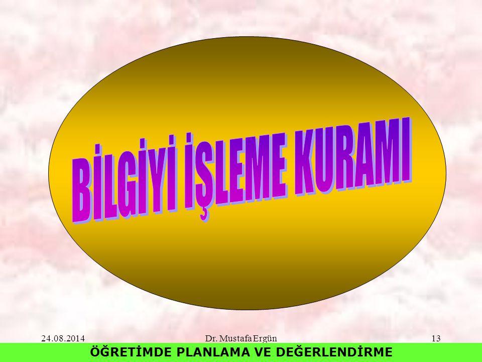 24.08.2014Dr. Mustafa Ergün13 ÖĞRETİMDE PLANLAMA VE DEĞERLENDİRME
