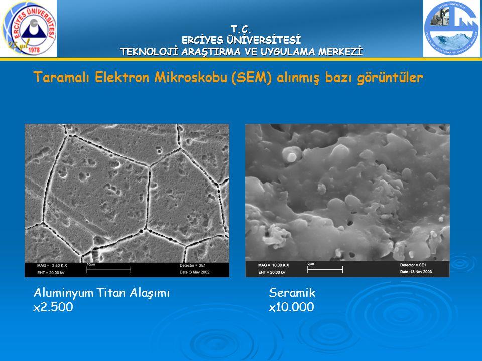T.C. ERCİYES ÜNİVERSİTESİ TEKNOLOJİ ARAŞTIRMA VE UYGULAMA MERKEZİ Aluminyum Titan Alaşımı x2.500 Taramalı Elektron Mikroskobu (SEM) alınmış bazı görün