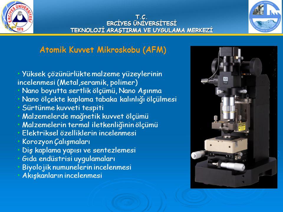 T.C. ERCİYES ÜNİVERSİTESİ TEKNOLOJİ ARAŞTIRMA VE UYGULAMA MERKEZİ Atomik Kuvvet Mikroskobu (AFM) Yüksek çözünürlükte malzeme yüzeylerinin incelenmesi