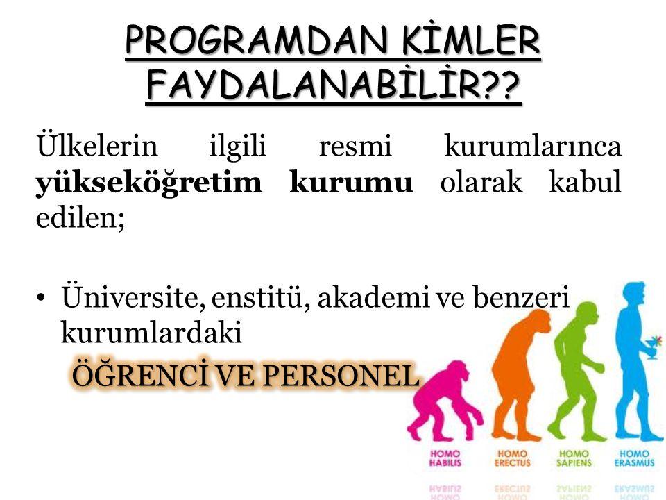 PROGRAMDAN KİMLER FAYDALANABİLİR