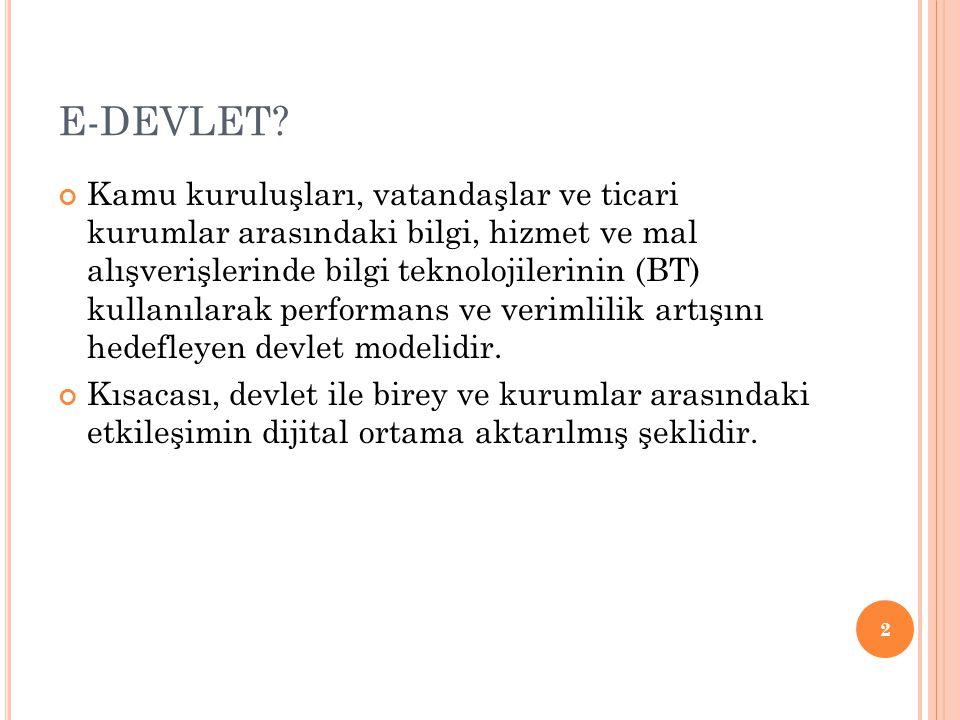 E-DEVLET.