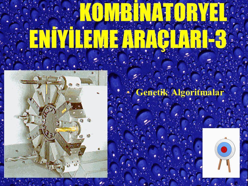 KOMBİNATORYEL ENİYİLEME ARAÇLARI-2 Genetik Algoritmalar EVRİM teorisini ilham alır. Koyun Dolly Genetik Operatörler Yeniden Üretme (Reproduction) Çapr