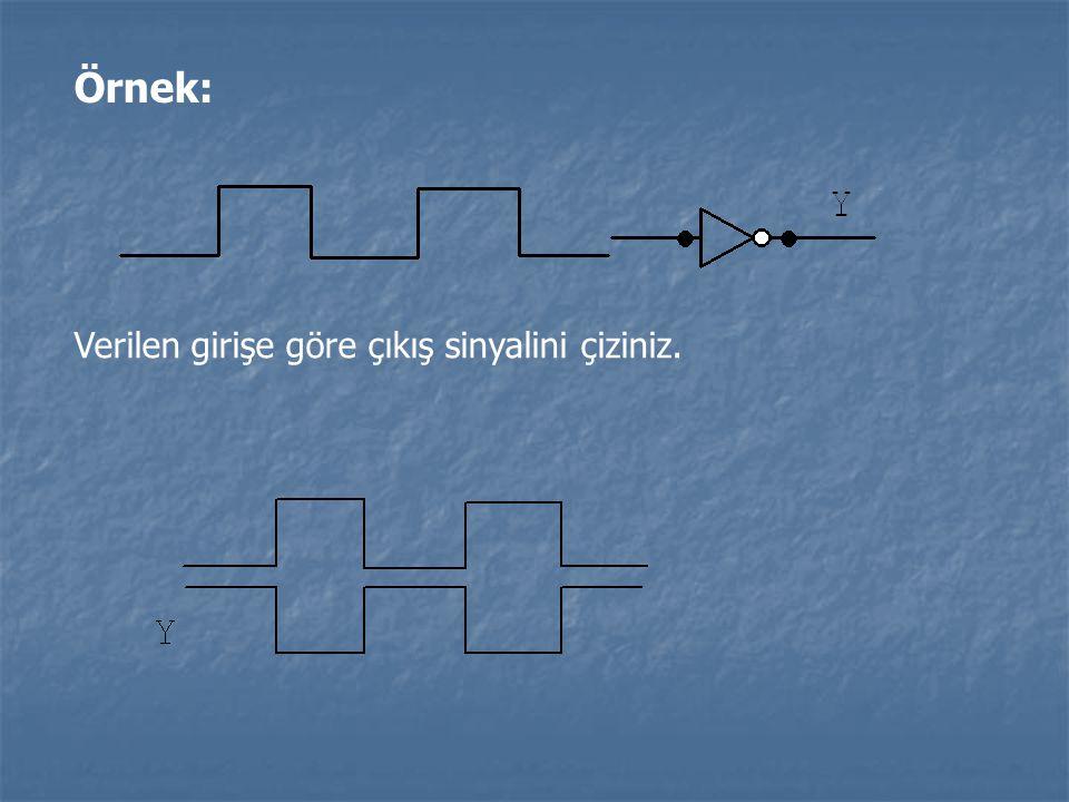 Örnek: Verilen girişe göre çıkış sinyalini çiziniz.