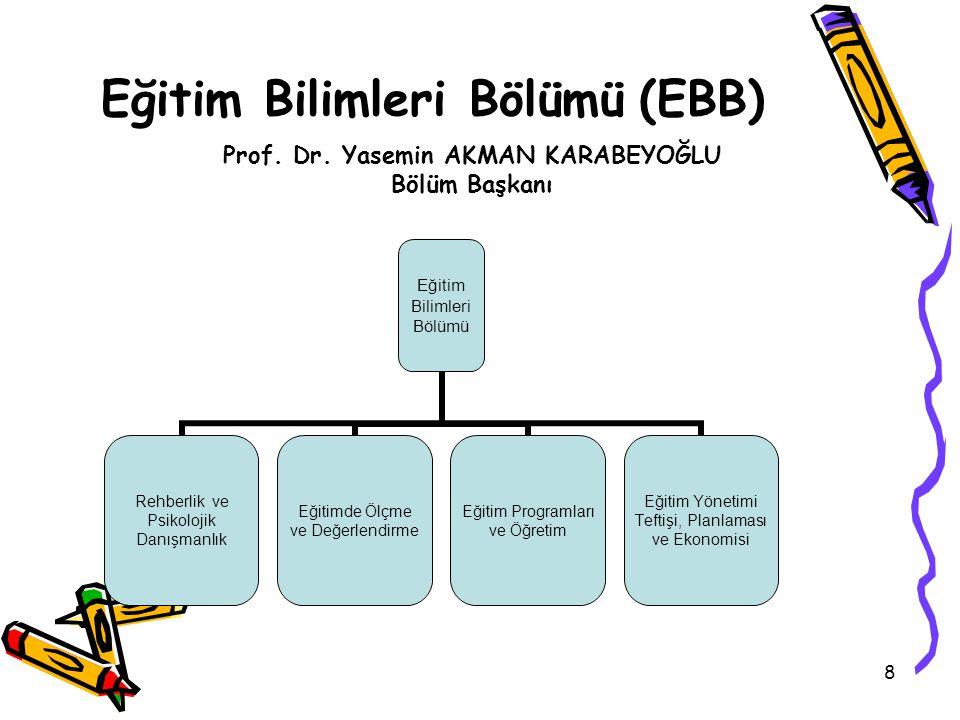 8 Eğitim Bilimleri Bölümü (EBB) Prof.Dr.