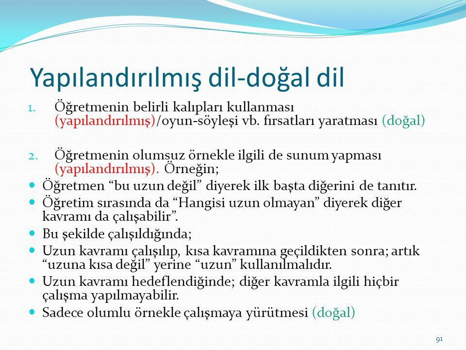 Yapılandırılmış dil-doğal dil 1.