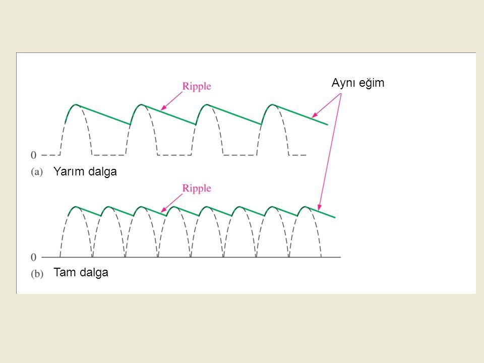 Genelde kullanılan kapasite değeri yükseltilerek filtreleme işleminin etkinliği arttırılabilir ve dolayısıyla çıkış DC seviyesindeki ripple (dalgalanma) azaltılabilir.