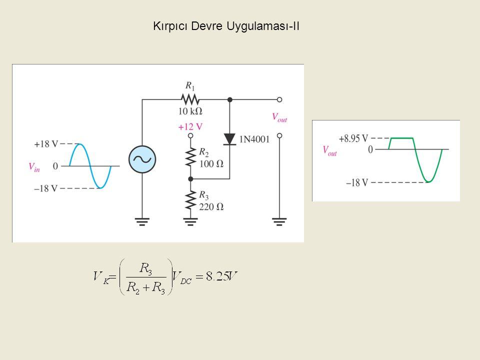 Kenetleyiciler 24 Bir diyot ve bir kapasitör, bir AC işareti belirli bir DC seviyeye kenetlemek için kullanılabilir.