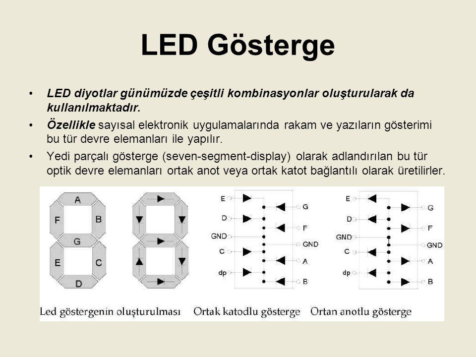 LED'lerin Kullanım Alanları Dijital Saatler Büyük Ekranlar Uzaktan Kumandalar İkaz Lambası Uygulaması
