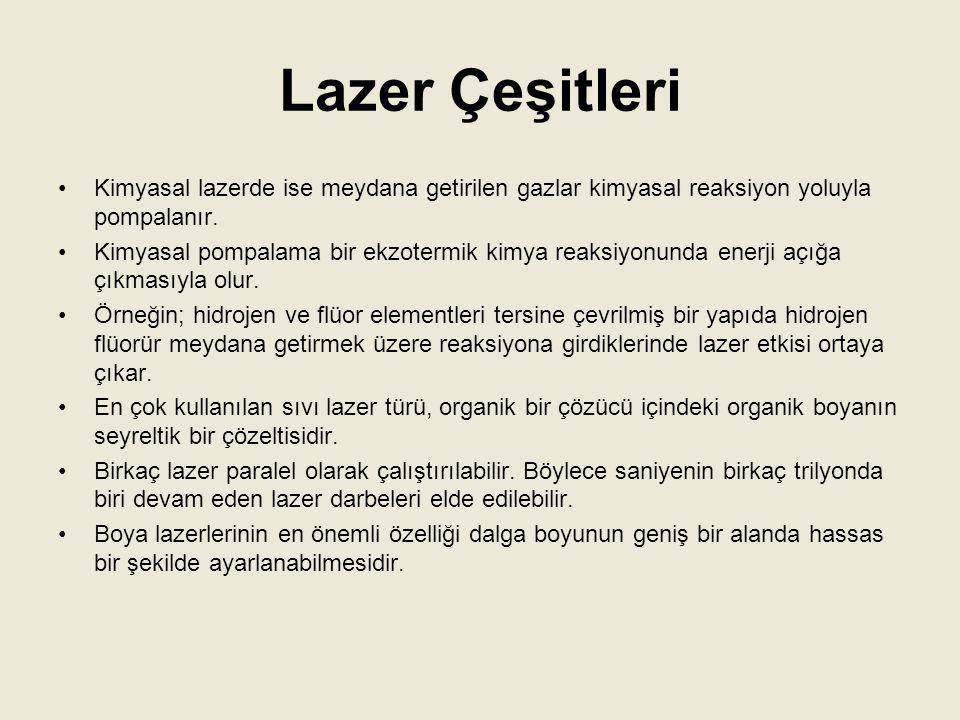 Lazer Işınının Kullanıldığı Yerler Lazer, haberleşmede kullanılabilecek özelliklere sahiptir.