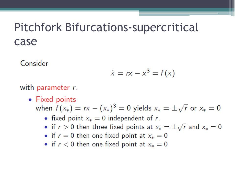 Pitchfork Bifurcations-supercritical case