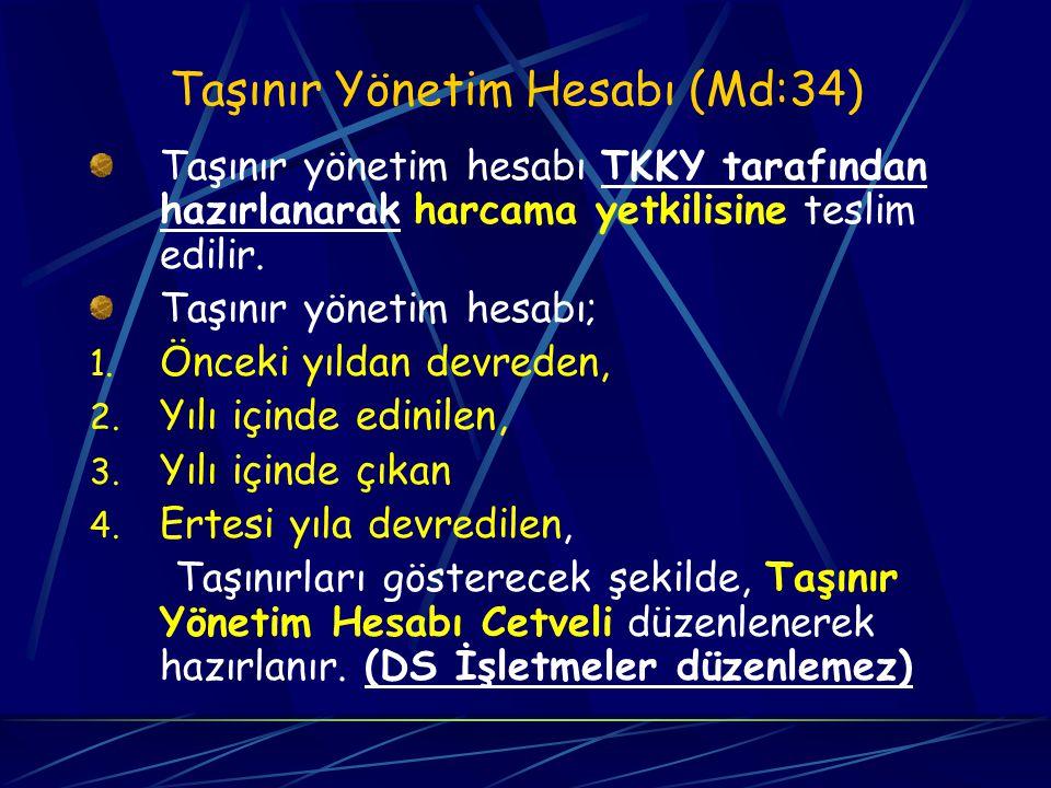 Devir işlemleri (MD:33) TKK Yetkililerinin görevlerinden ayrılmalarında yeni TKKY'ne devir yapılır. Devir vermeyen veya veremeyenlerin devri Devir Kur