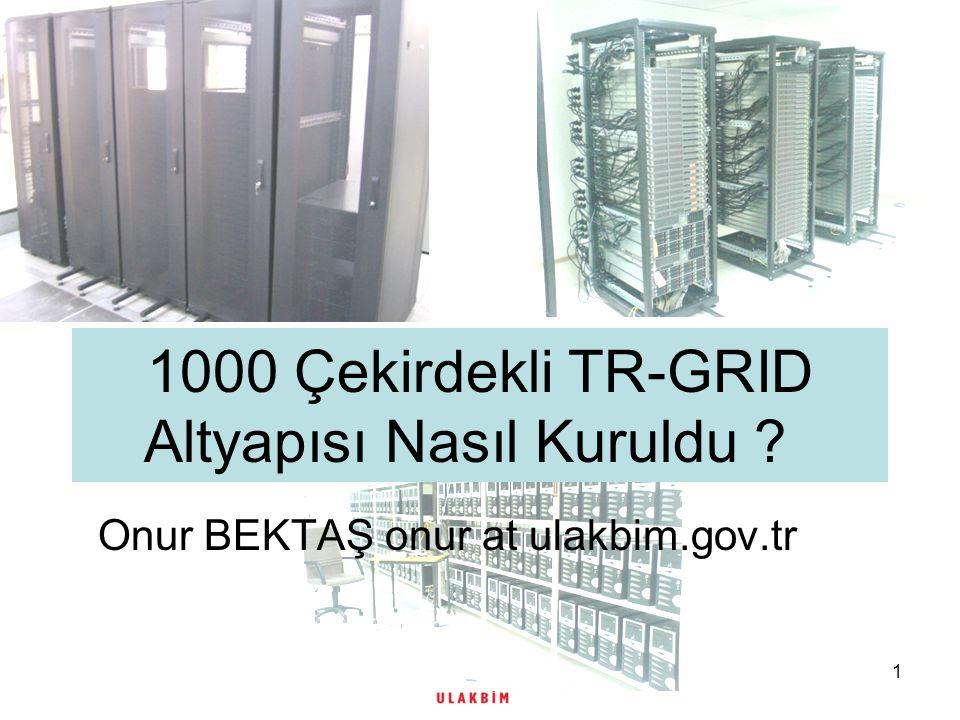 1 1000 Çekirdekli TR-GRID Altyapısı Nasıl Kuruldu Onur BEKTAŞ onur at ulakbim.gov.tr