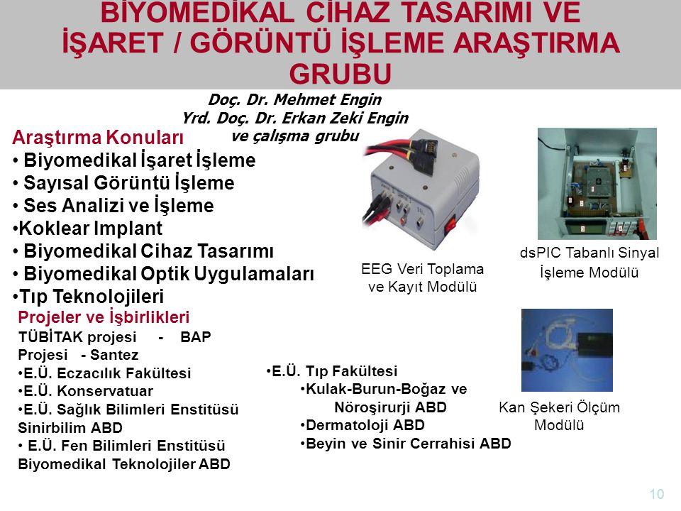 http://electronics.ege.edu.tr Elektrik-Elektronik Mühendisliği Bölümü Doç. Dr. Mehmet Engin Yrd. Doç. Dr. Erkan Zeki Engin ve çalışma grubu BİYOMEDİKA