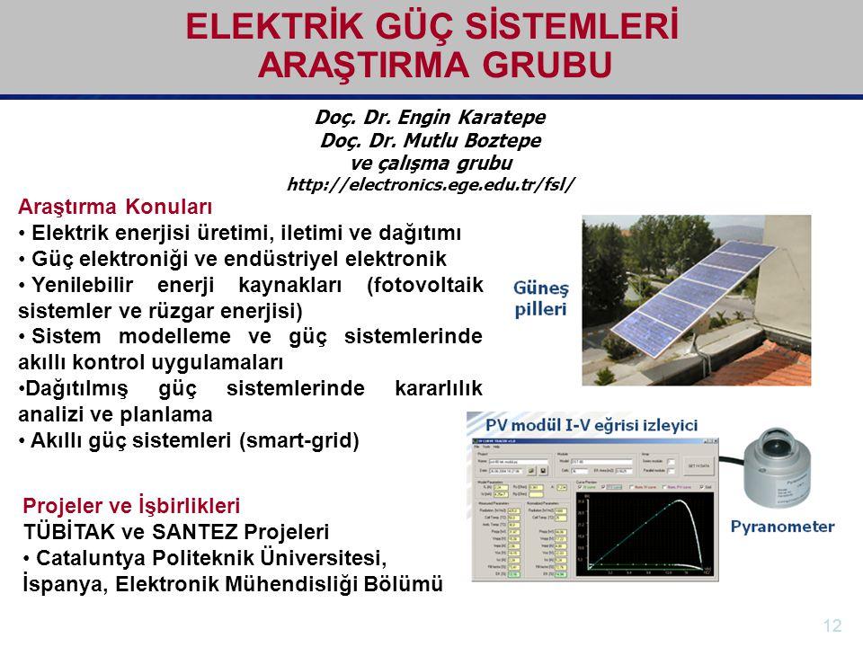 http://electronics.ege.edu.tr Elektrik-Elektronik Mühendisliği Bölümü Doç. Dr. Engin Karatepe Doç. Dr. Mutlu Boztepe ve çalışma grubu http://electroni