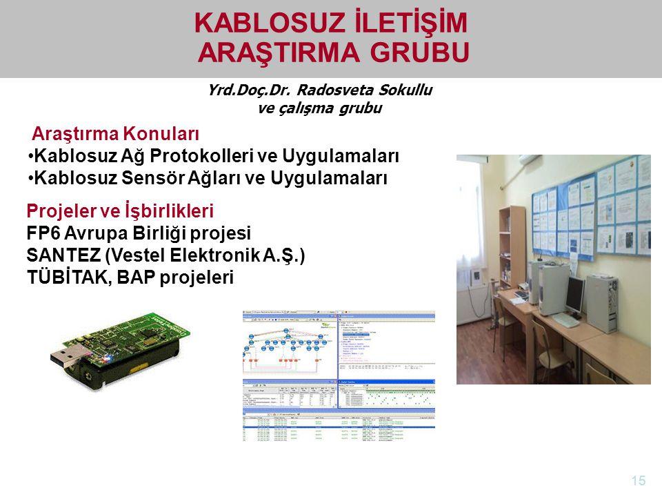 http://electronics.ege.edu.tr Elektrik-Elektronik Mühendisliği Bölümü Yrd.Doç.Dr. Radosveta Sokullu ve çalışma grubu KABLOSUZ İLETİŞİM ARAŞTIRMA GRUBU