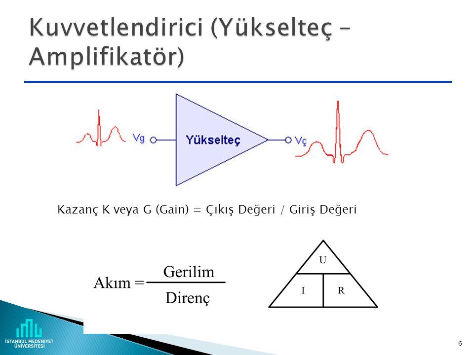  Ideal işlemsel kuvetlendirici (operational amplifier – op-amp)  Eviren, evirmeyen ve enstrümentasyon (cihaz) kuvvetlendiricisi  Entegratör (toplam