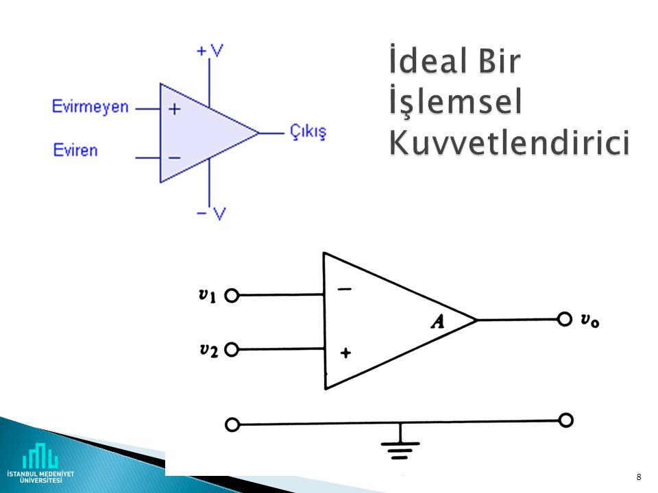  Gerilim kontrollü gerilim kuvvetlendiricisi (basit op- amp)  Gerilim kontrollü akım kuvvetlendiricisi (operational transconductance amplifier – OTA