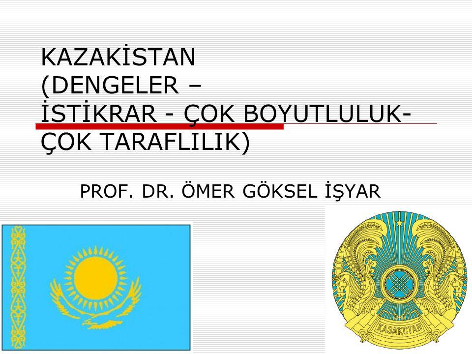 Jeopolitik önemi  Kazakistan Cumhuriyeti Orta Asya'nın en geniş topraklara sahip ülkesidir.