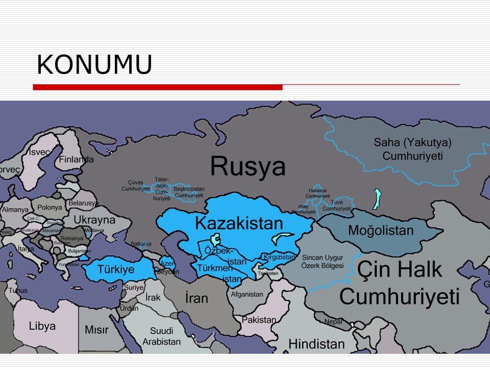 Önemli yerleşim yerleri  Kazakistan çok büyük bir arazi üzerinde kurulmasına rağmen kentleşme oranı çok yüksek bir coğrafyadır.