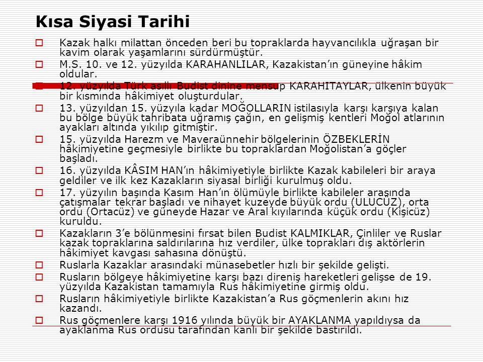 Türk ve Kazak Avrasya Anlayışının Benzerliği  Nazarbayev zihniyetindeki Avrasyacılık, Türk Avrasyacılarının da, zaman zaman düştükleri ÇELİŞKİDEN KURTULAMAMIŞTIR.