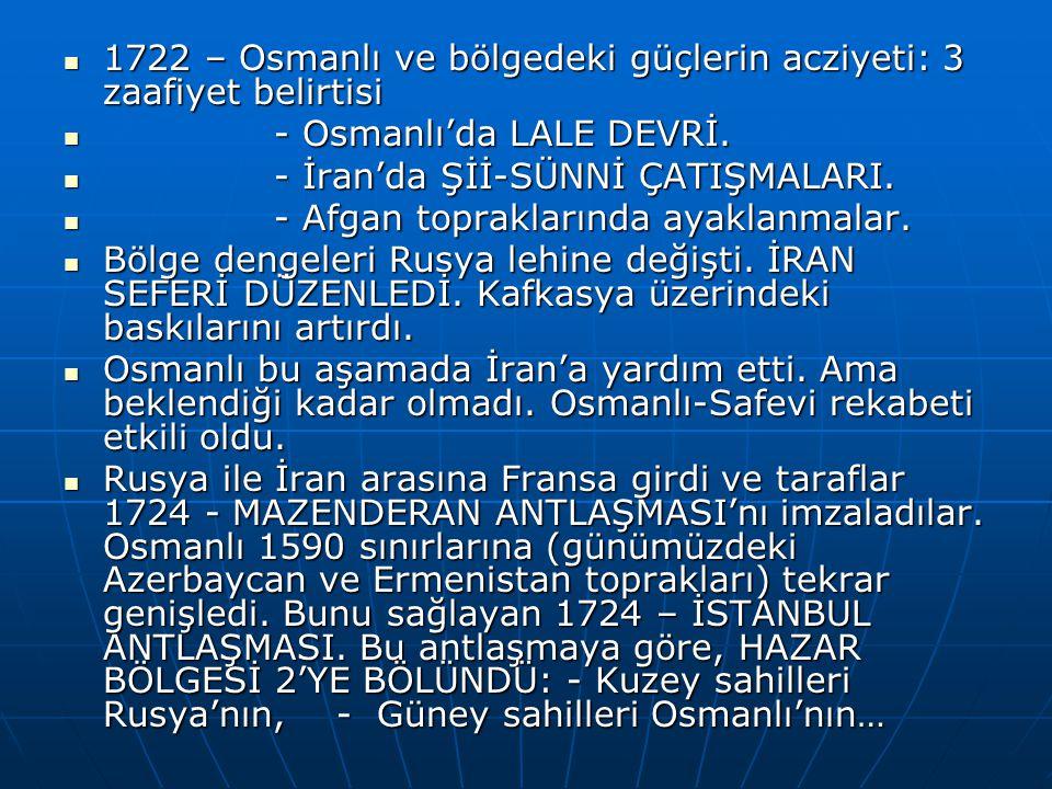 1722 – Osmanlı ve bölgedeki güçlerin acziyeti: 3 zaafiyet belirtisi 1722 – Osmanlı ve bölgedeki güçlerin acziyeti: 3 zaafiyet belirtisi - Osmanlı'da LALE DEVRİ.