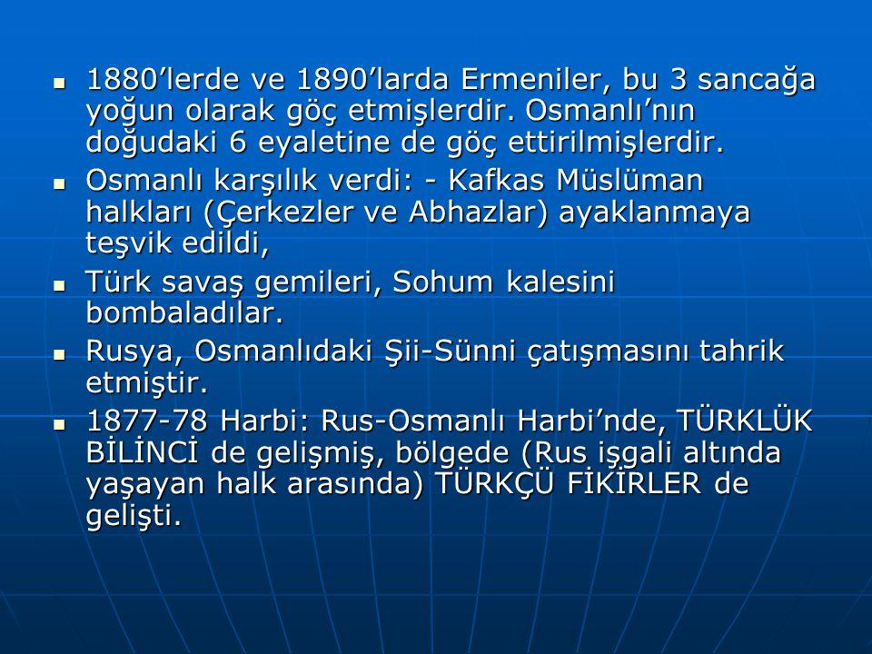 1880'lerde ve 1890'larda Ermeniler, bu 3 sancağa yoğun olarak göç etmişlerdir.