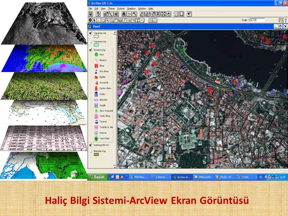 Haliç Bilgi Sistemi-ArcView Ekran Görüntüsü
