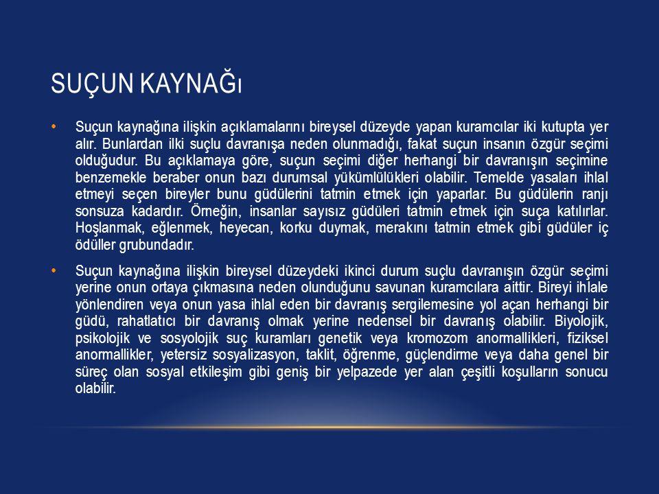 KRIMINOLOJI Kriminolojinin Türkçe karşılığı Suç Bilimi dir.