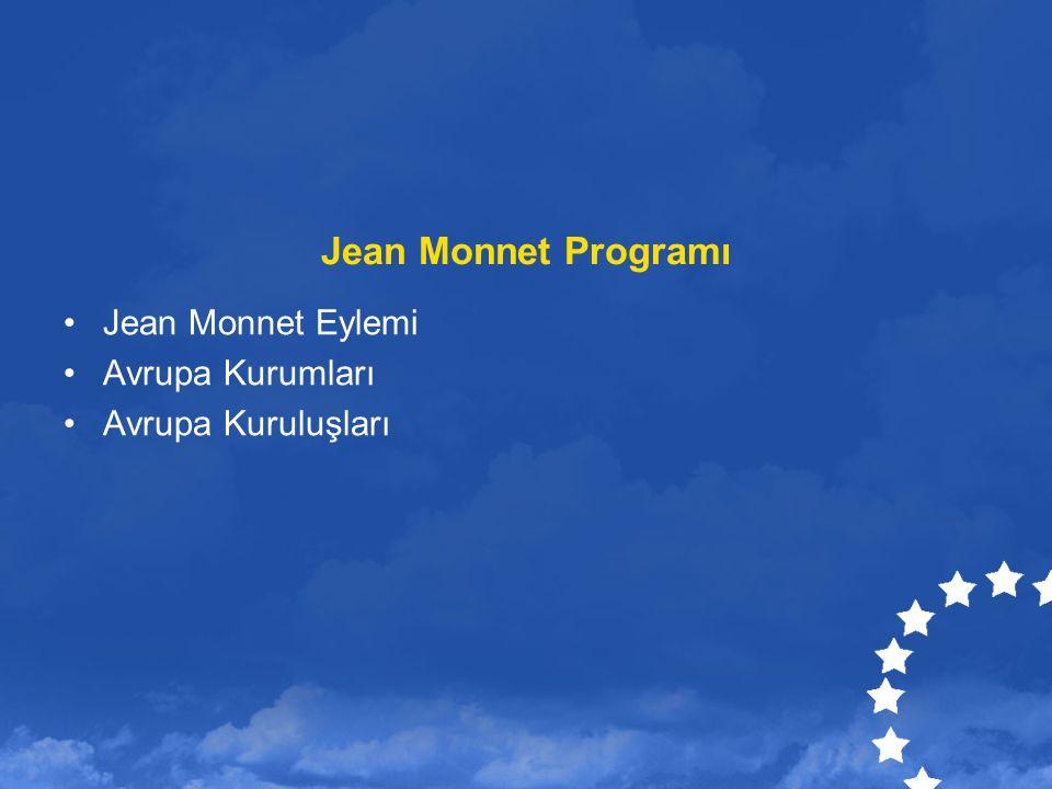 Jean Monnet Programı Jean Monnet Eylemi Avrupa Kurumları Avrupa Kuruluşları