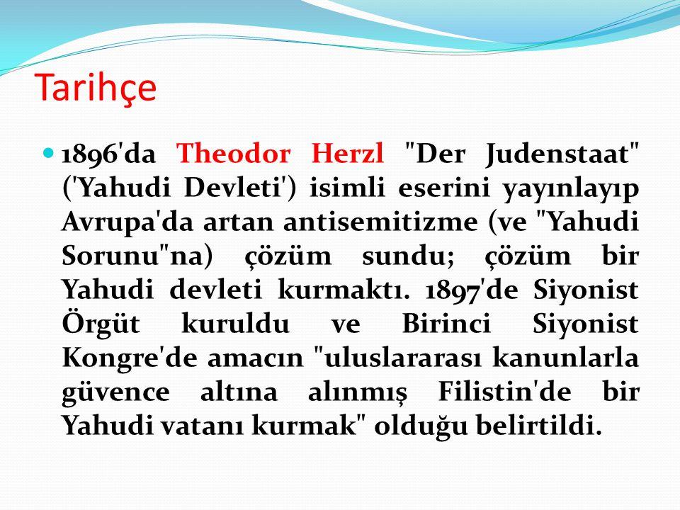 Tarihçe 1896'da Theodor Herzl