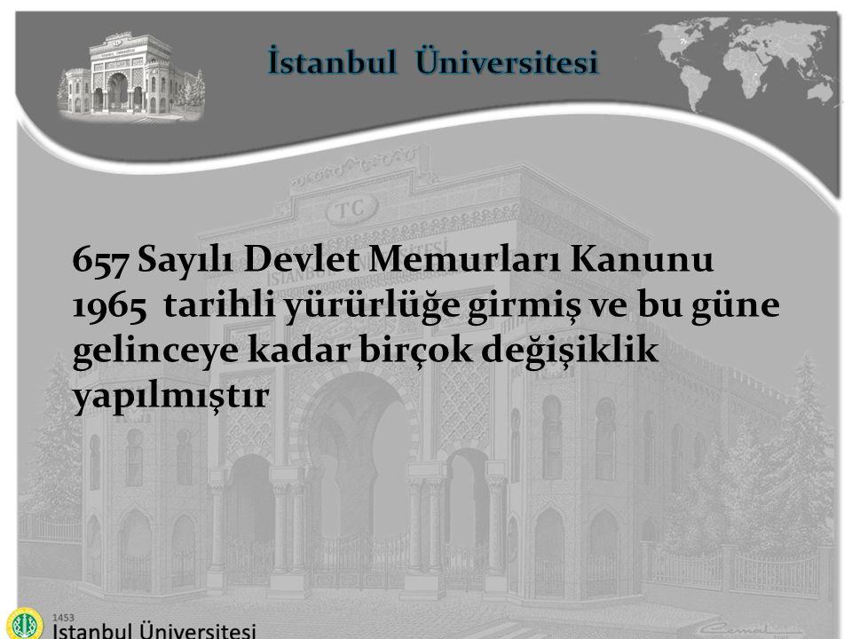 İstanbul Üniversitesi Temel İlkeler Sınıflandırma Kariyer Liyakat