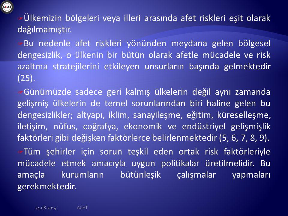 24.08.2014ACAT Sıra No: İLLERORTAK ÖZELLİKLERİ 1.