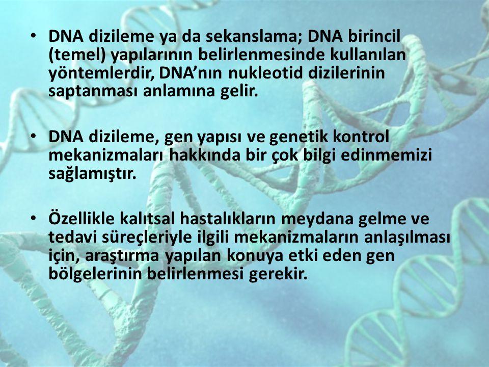 DNA dizileme ya da sekanslama; DNA birincil (temel) yapılarının belirlenmesinde kullanılan yöntemlerdir, DNA'nın nukleotid dizilerinin saptanması anla