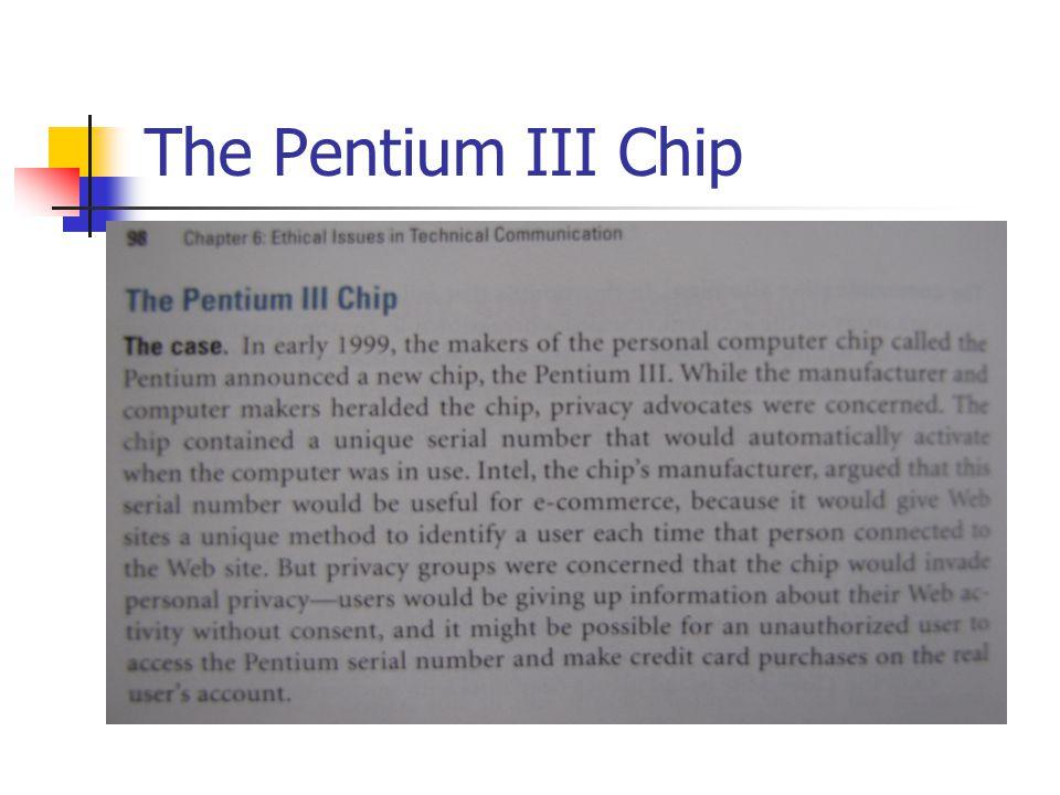 The Pentium III Chip