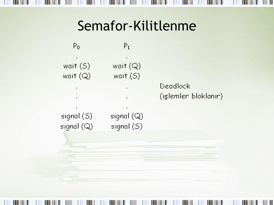 Semafor-Kilitlenme