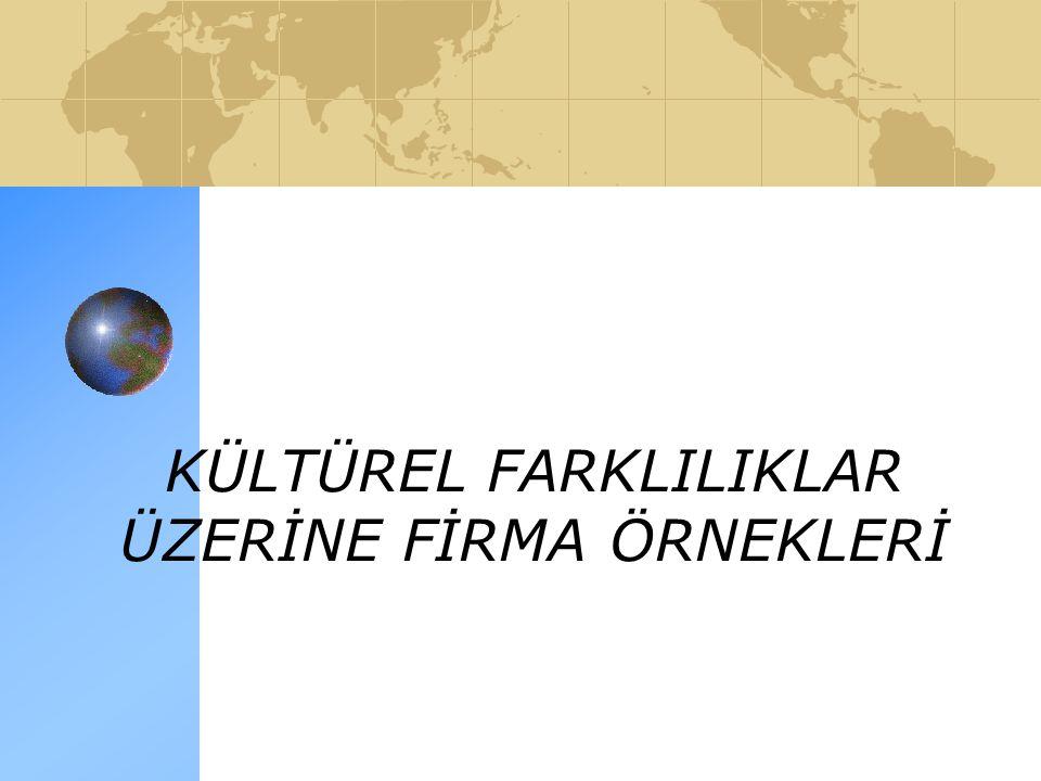 KÜLTÜREL FARKLILIKLAR ÜZERİNE FİRMA ÖRNEKLERİ